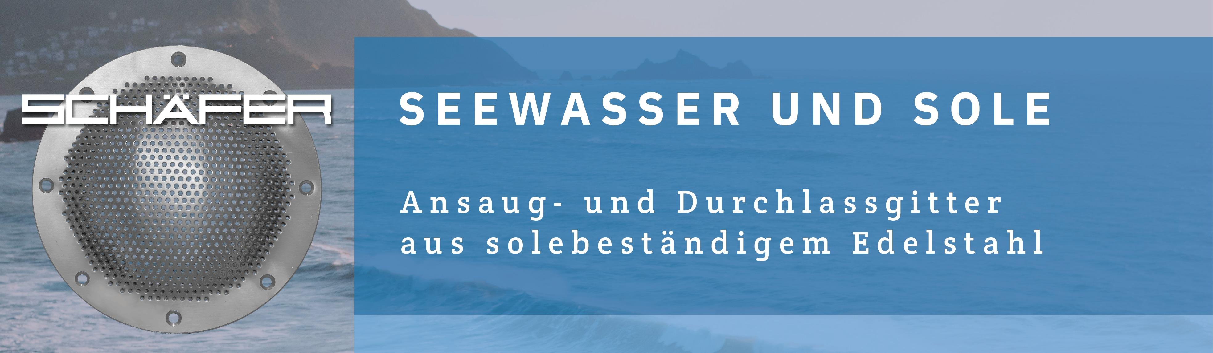 Neu und nur von Schäfer: Seewasser- und solebeständige Gitter aus Edelstahl 1.4539.